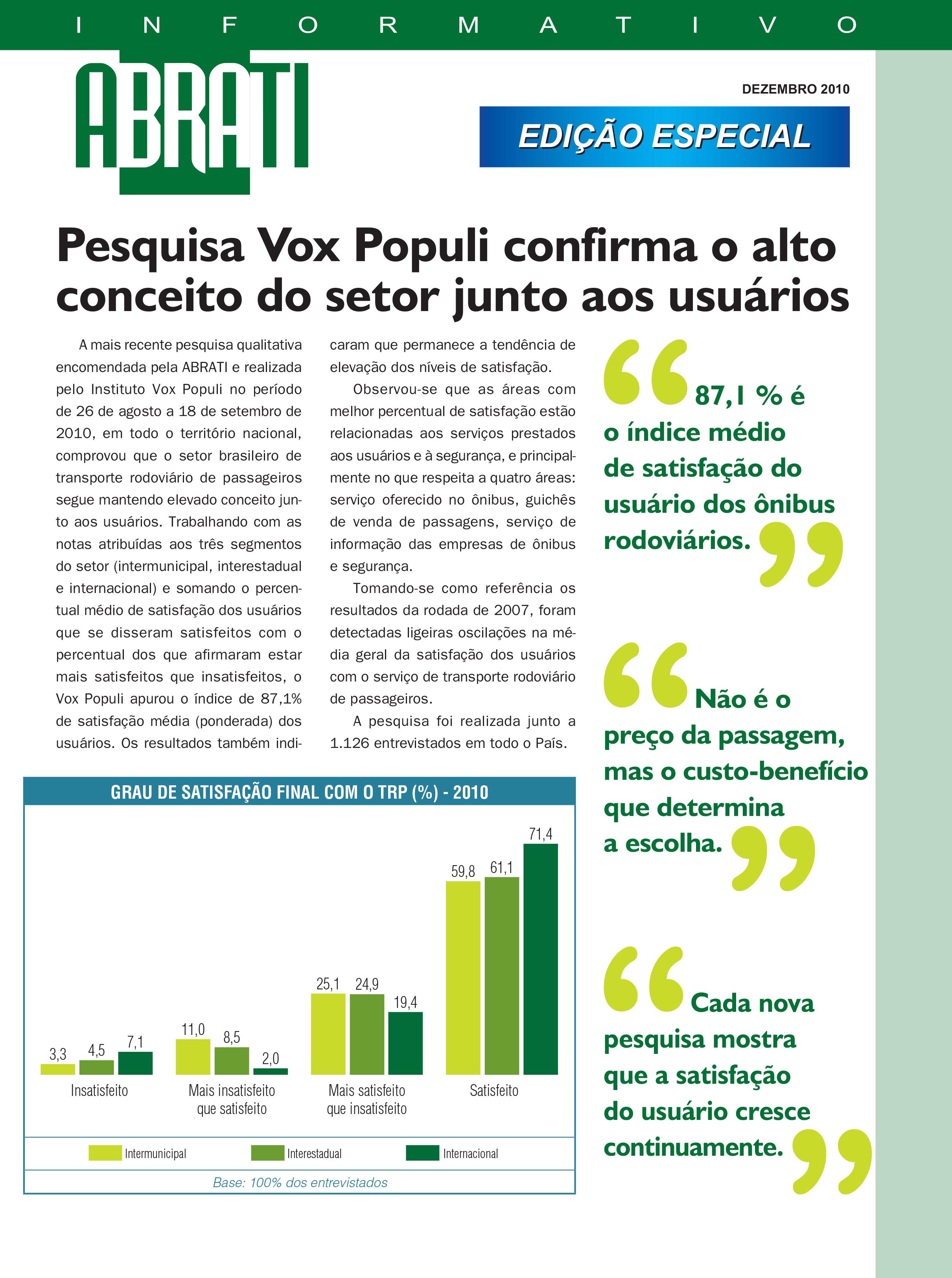 Informativo Especial Dezembro 2010