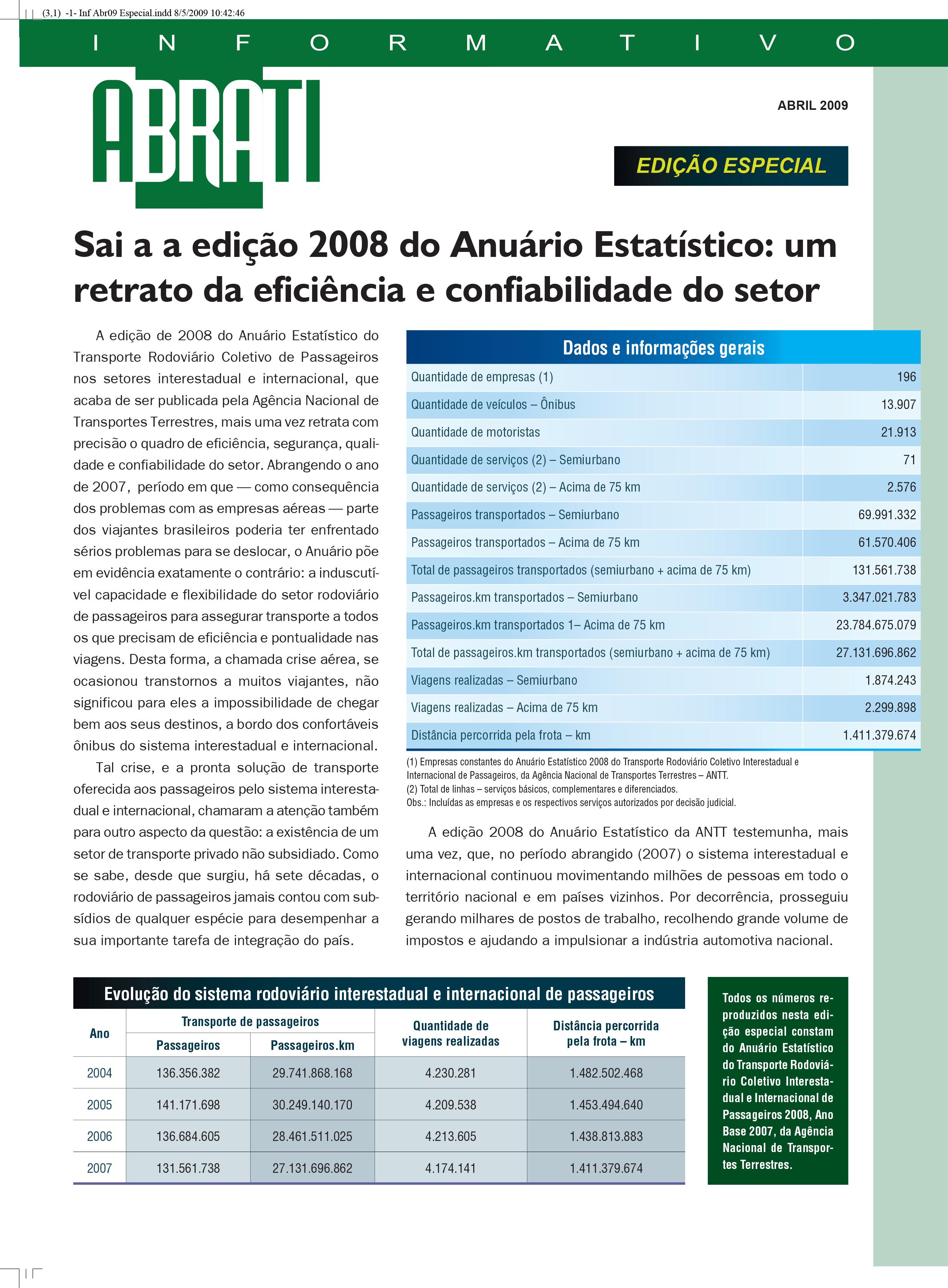 Informativo Especial Abril 2009