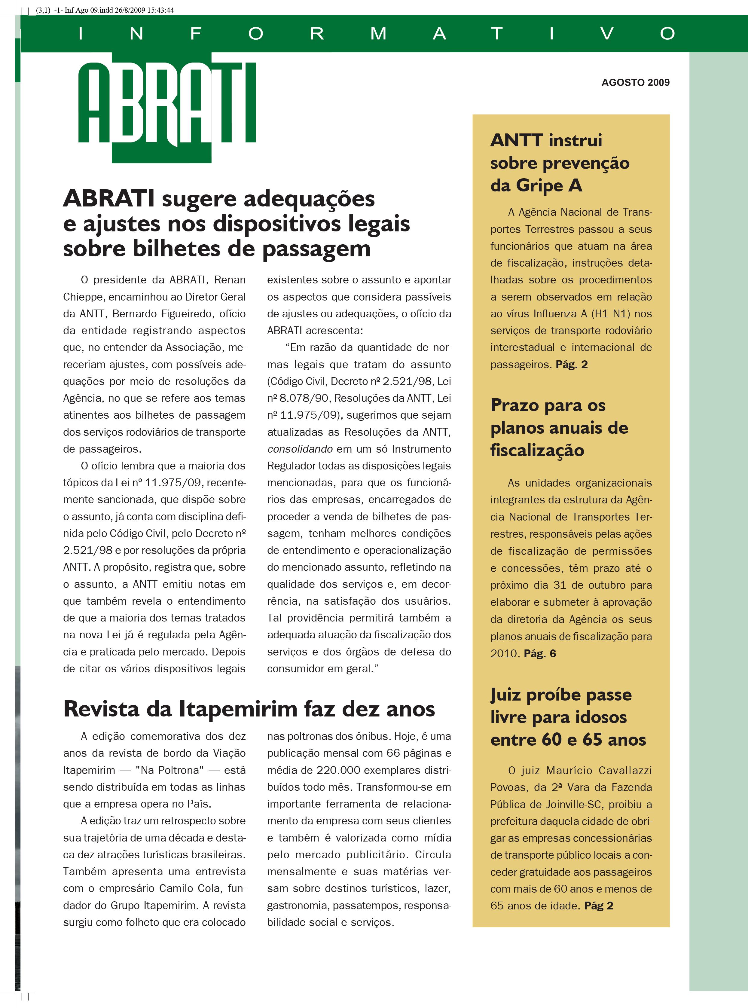 Informativo Agosto 2009