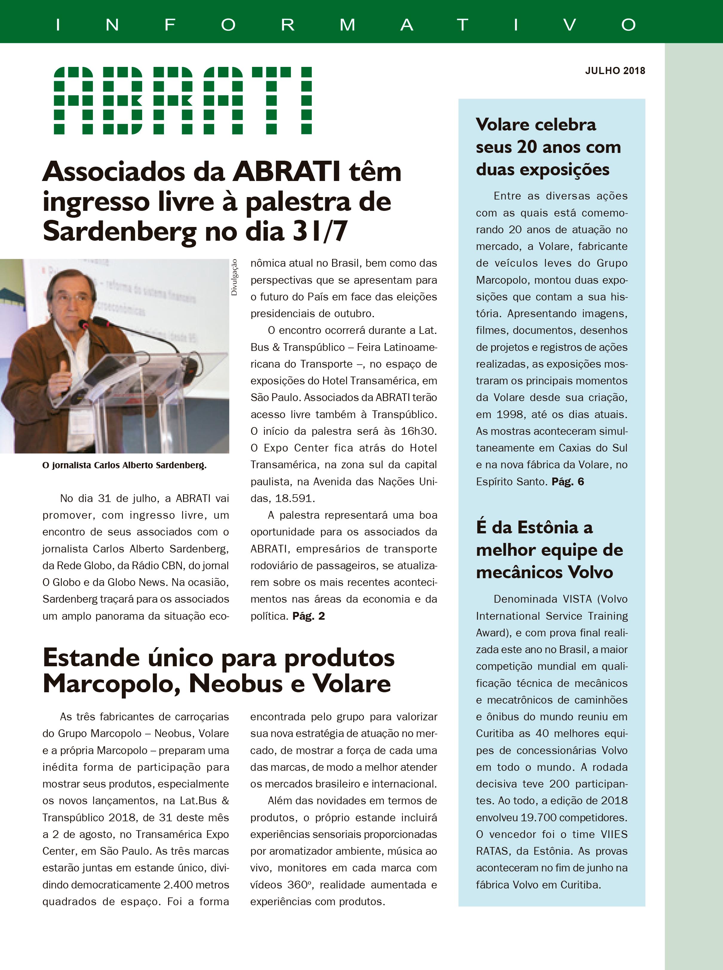 Informativo Julho 2018