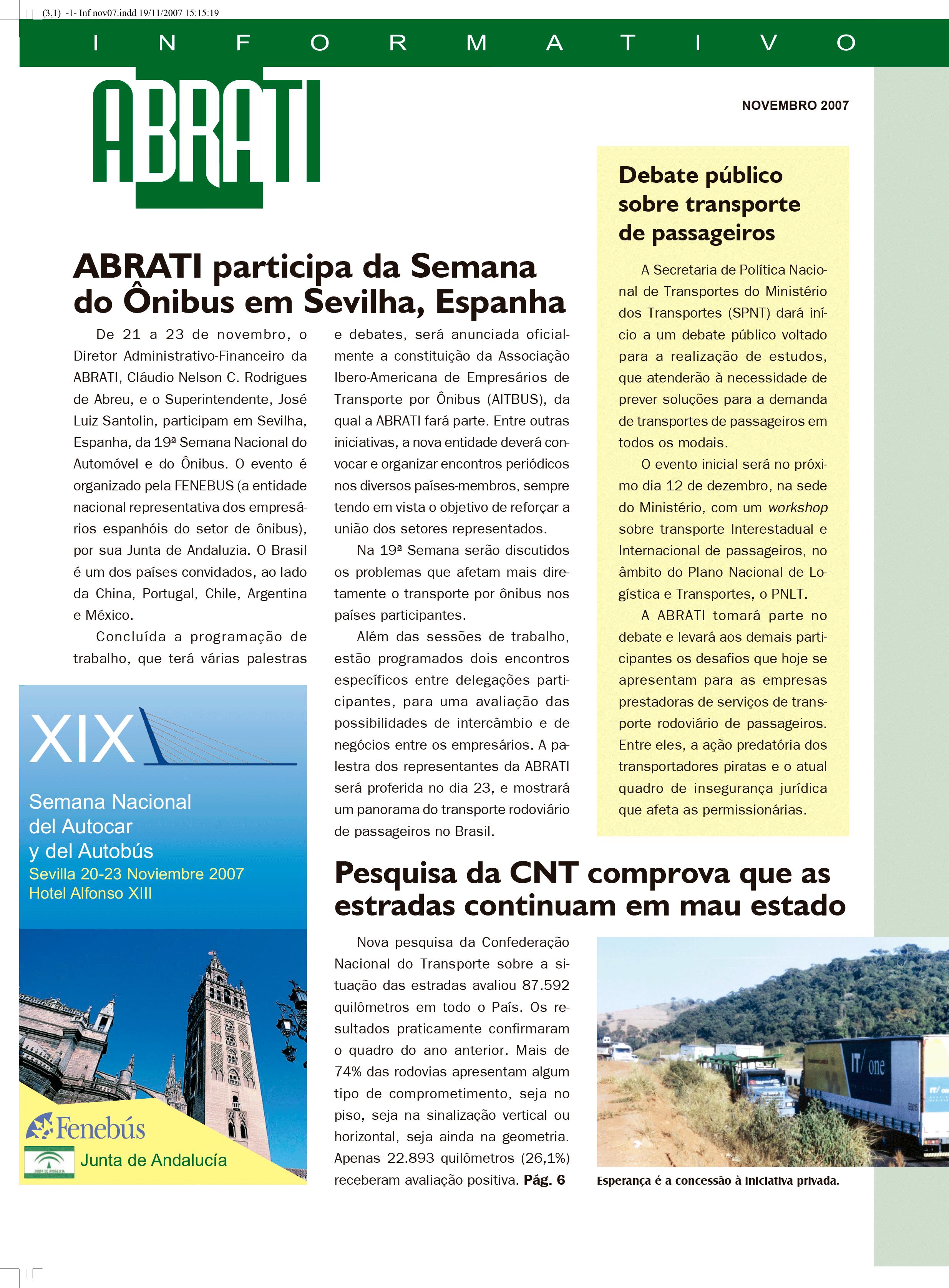 Informativo Novembro 2007