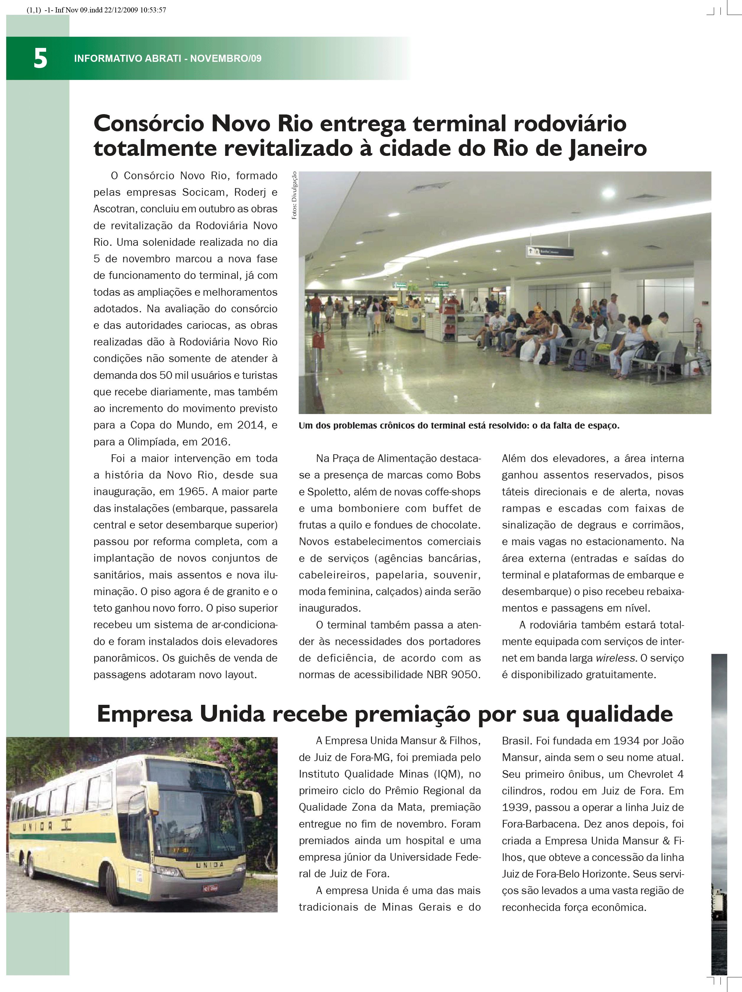 Informativo Novembro 2009